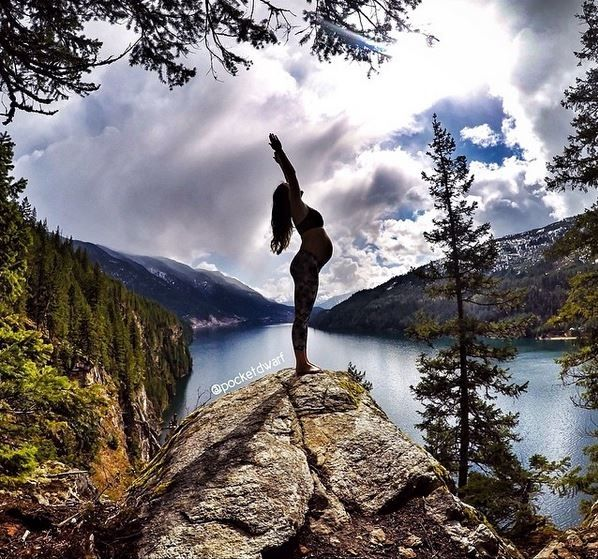 Photos: Yoga mom's pregnant poses will blow you away   BabyCenter Blog