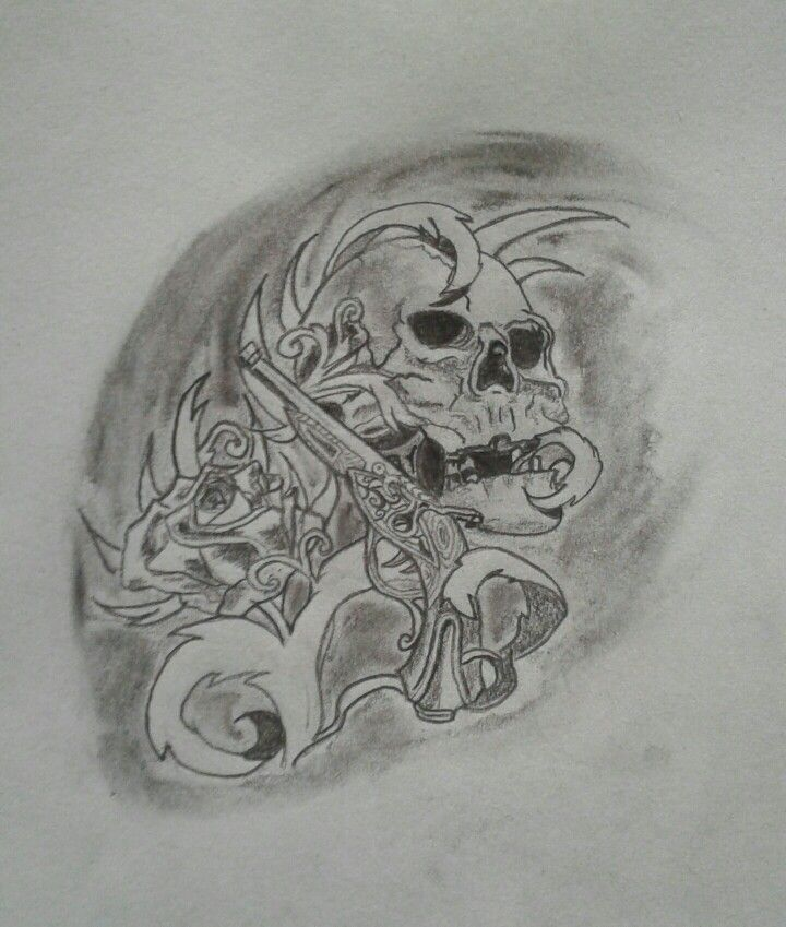 Tatouage crâne gun n'roses - B'zine