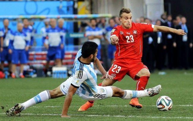 Xherdan Shaqiri założył siatkę • Argentyna vs Szwajcaria • Fifa World Cup • Pokaz umiejętności Xherdana Shaqiri • Mundial w Brazylii >>