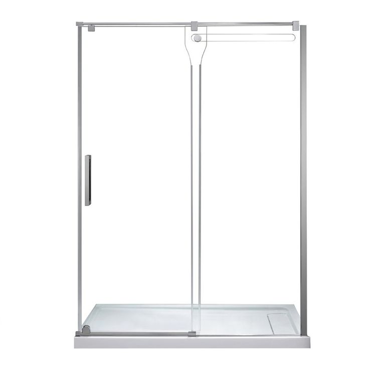 Erika 58.25-in to 58.75-in W x 76-in H Frameless Sliding Shower Door from JACUZZI from Lowe's Canada