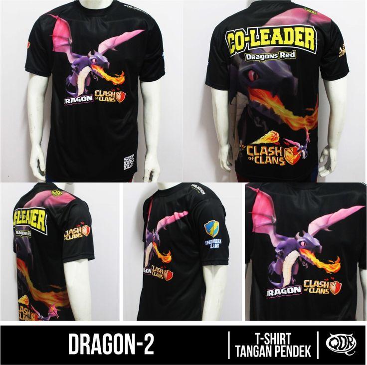 Clash Of Clans Jersey Dragon-2 Bahan; Dry-fit polyester printing: sublimasi (Gratis penambahan nama id,nama&logo clan,jabatan) pemesanan hub: BBM 543d3dbb Qdr Online shop WA 081222970120