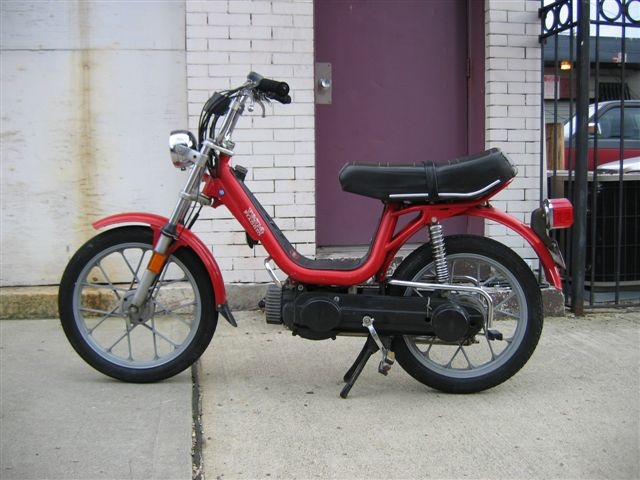 1980 Vespa Grande 2 stroke engine moped. Norma has one of these and I love to steal it. It is the most reliable moped I have ever ridden.
