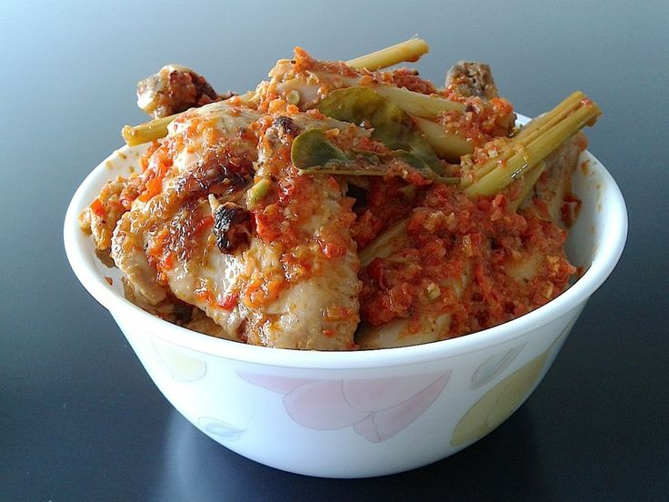 Ayam Rica-Rica, chicken with chili sauce from North Sulawesi Indonesia.