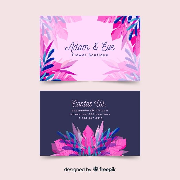 Download Watercolor Floral Business Card Template For Free Floral Business Cards Free Business Card Templates Business Card Template