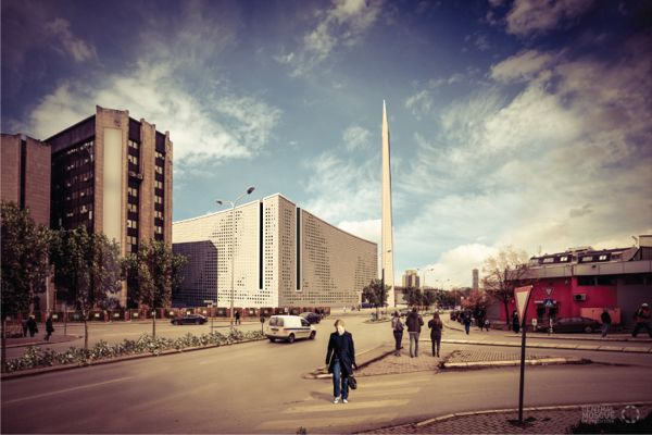 The idea behind the proposal for the Central Mosque of Pristina comes from the first religious needs and the study of the earliest styles of mosque architecture in Kosovo. Designed by Maden GROUP, the concept is to convey tradition through contemporary architecture while combining in the best mode of architecture and religious rules. Therefore, the architects developed in geometric foundations, by combining simple geometrical elements. More images and architects' description after the break.
