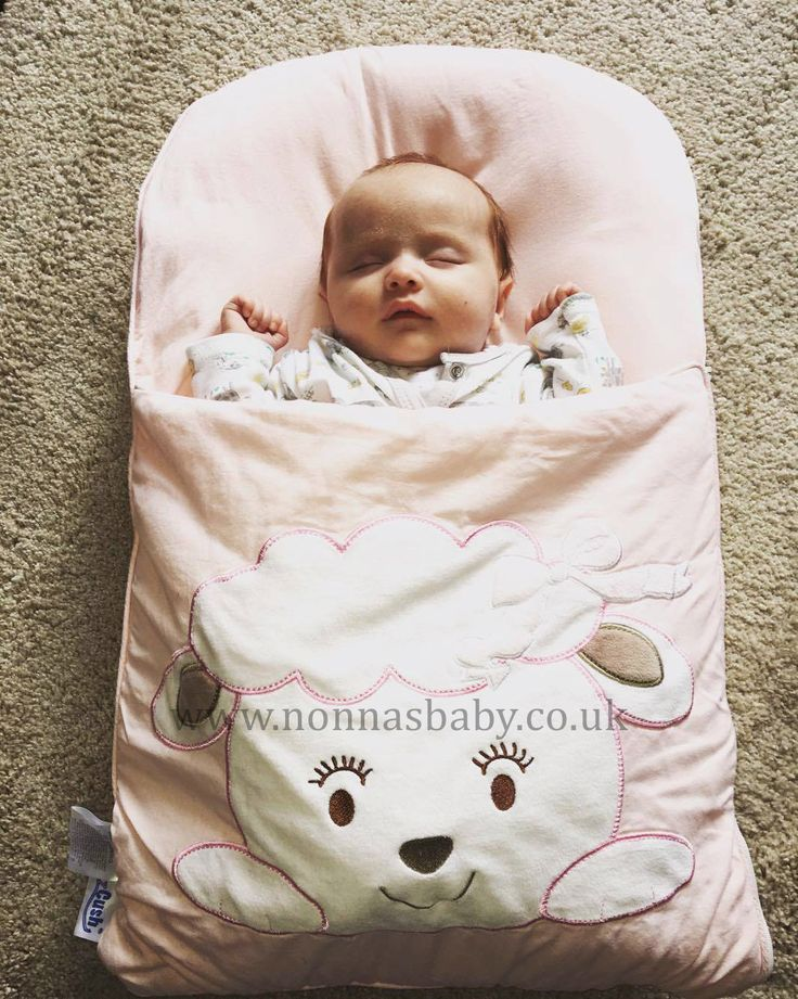 """Baby Isla is cute and comfy in her Cotton Candy Nap Mat. Mummy Sheridan told us """"she's 8 weeks old and will only settle in her nap mat!! Perfect for her Moses basket and her carrycot for the pram"""". Nonna is thrilled! :-) • Find out more about Nap Mats: https://nonnasbaby.co.uk/baby-nap-mats/"""