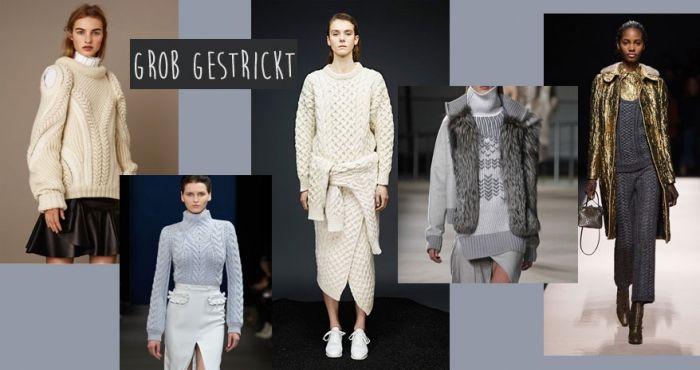 Modetrends Herbst 2015: Grob gestrickt