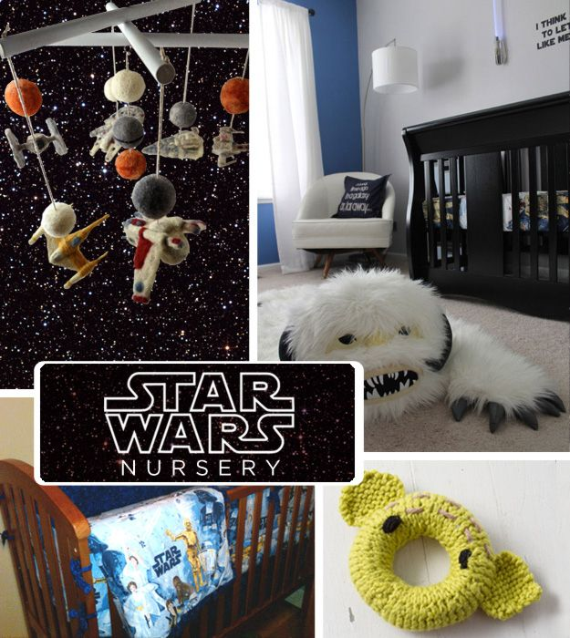 Perhaps the first Super Fandom, and one of the most enduring, is Star Wars. Raise a new generation of Jedis and Bounty Hunters in this room. | 20 DIY Pop Culture Themes For Your Baby'sNursery