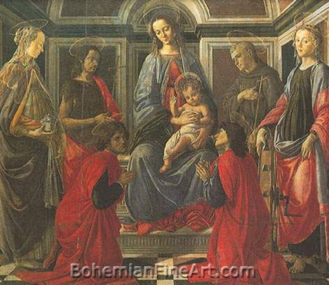 Sandro Botticelli, The Virgin and Child with Six Saints Fine Art Reproduction Oil Painting