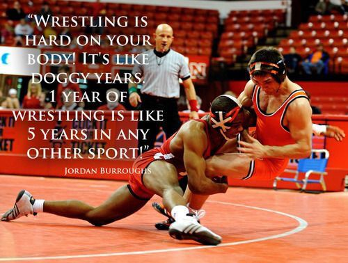 """Wrestling is Hard on Your Body!  It's L I K E Doggy Years.  1-Year of Wrestling is L I K E   5-Years in Any Sport ‼️""  •••• Jordan Burroughs ••••  @AlliSeeisGold   #Wrestling #OtherSports #Jordan #Burroughs #NebraskaWrestling #usaWrestling #DoggyYears #RealLife"
