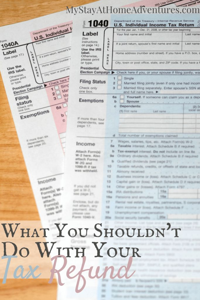Are you receiving a federal tax refund this year and trying to get your finances under control, read What You Shouldn't Do With Your Federal Tax Refund.