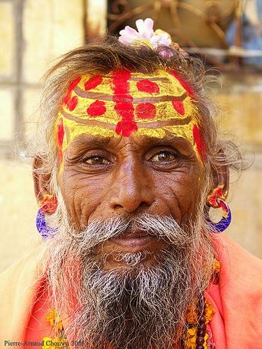 Sadhu portrait, Jaisalmer.   by f/4