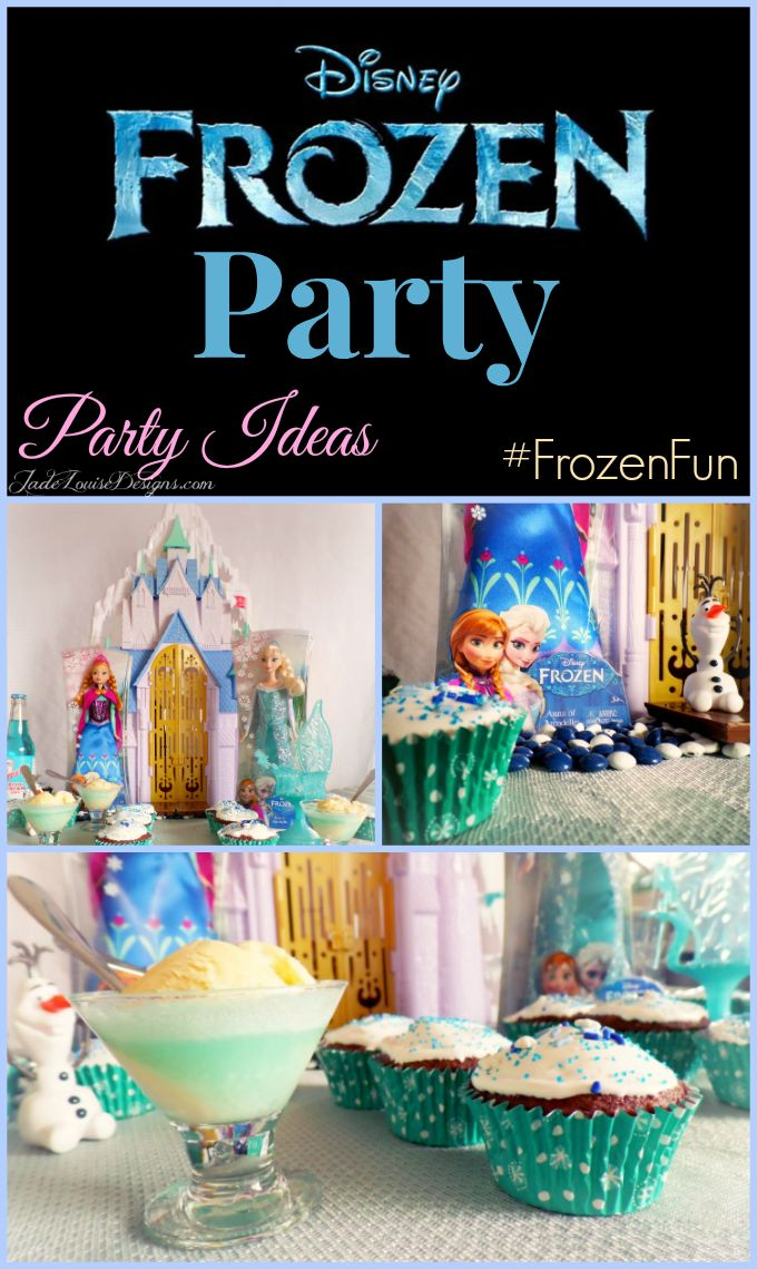 How to host a Mini Disney FROZEN party. Party ideas to warm the kids' hearts while it is Frozen outside. #FrozenFun #shop #cbias