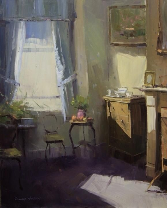 Artful Interiors Paintings Of Beautiful Rooms Colley Whisson Paris Interior Interieur Skilderye Art Window Painting