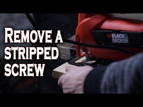 Five ways to remove a stripped screw (other than to use one of those fancy bits that I never have lying around). Worth pinning because I do this all the freaking time in my DIYing...