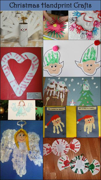 Handprint and Footprint Arts & Crafts: 10+ Handprint Christmas Crafts for Kids