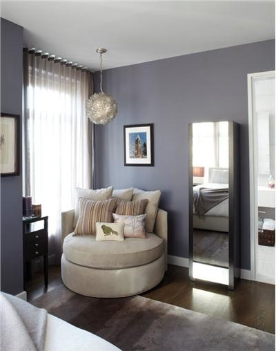 Contemporary (Modern, Retro) Bedroom by Amanda Moore Love the paint color!
