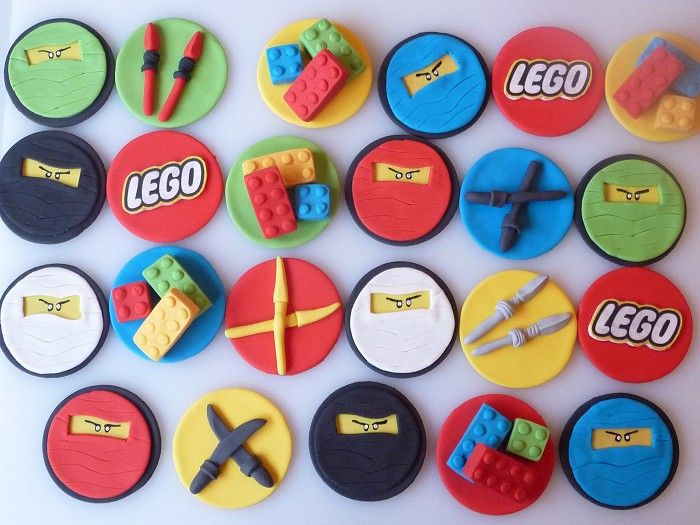12 Edible Lego Ninjago Cupcake Toppers - by SweetPartyTreats on madeit