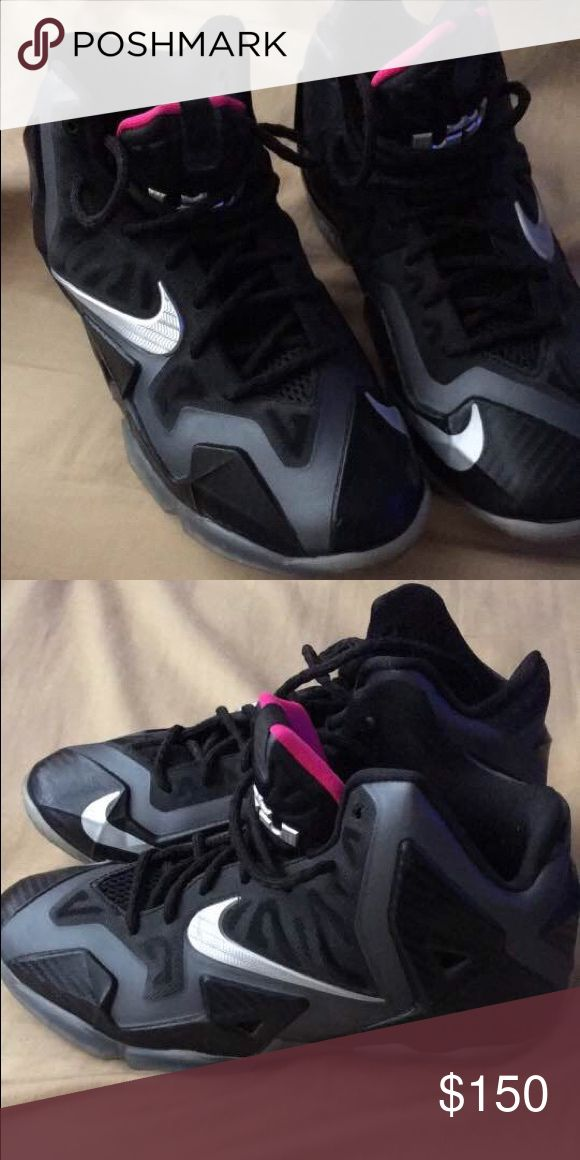 lebron 11 Miami nights Lebron 11 Miami nights. Size 6. Doesn't come with box Jordan Shoes Sneakers