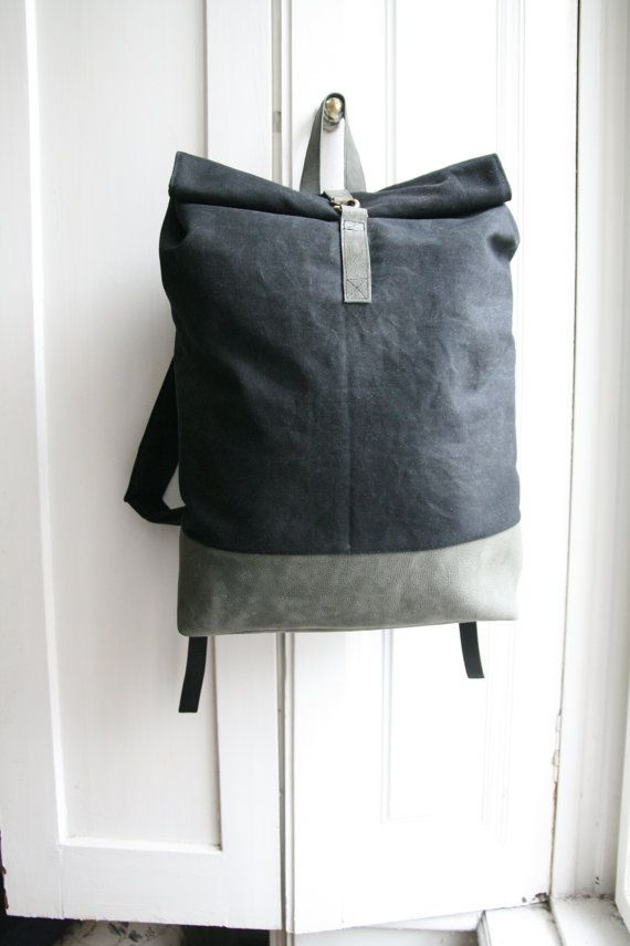 backpack vaxed canvas black