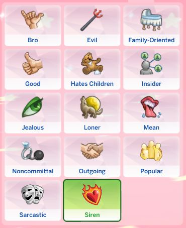how to change a sims traits