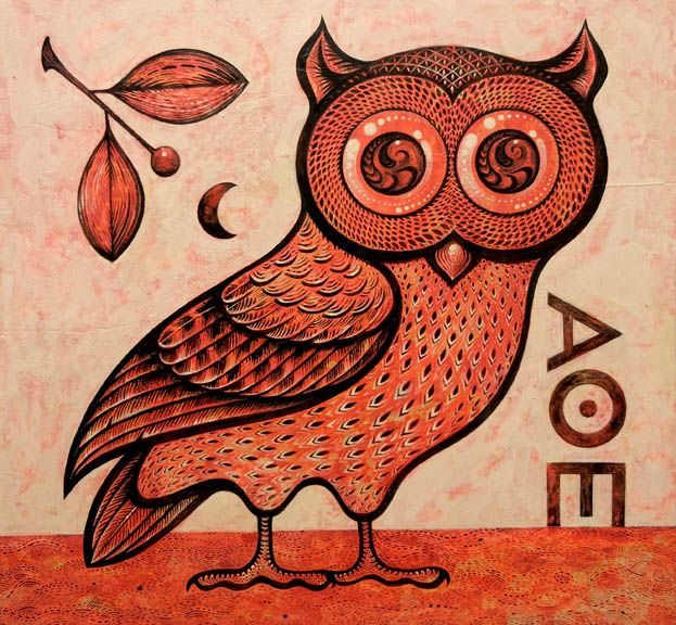 226 best owls in art and crafts images on pinterest for Athena owl tattoo