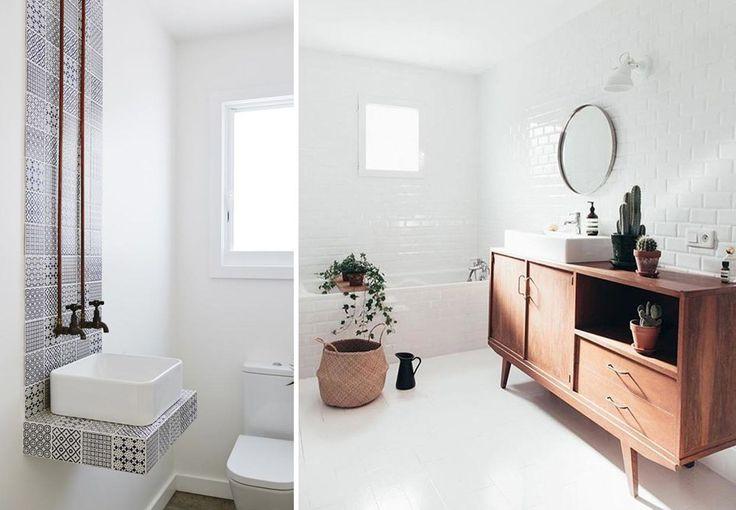 Er du også træt af hvide, småkedelige badeværelser? Giv dit badeværelse personlighed og et smuk, særpræget udtryk med disse betagende badeværelsesmøbler.