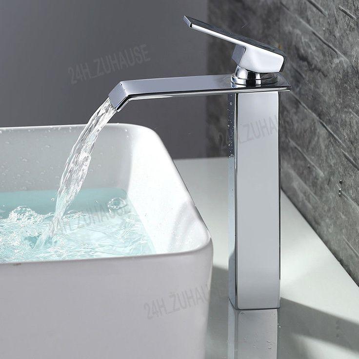 Design Wasserfall Wasserbecken Mischbatterie Waschtisch Hoch Armatur Wasserhahn