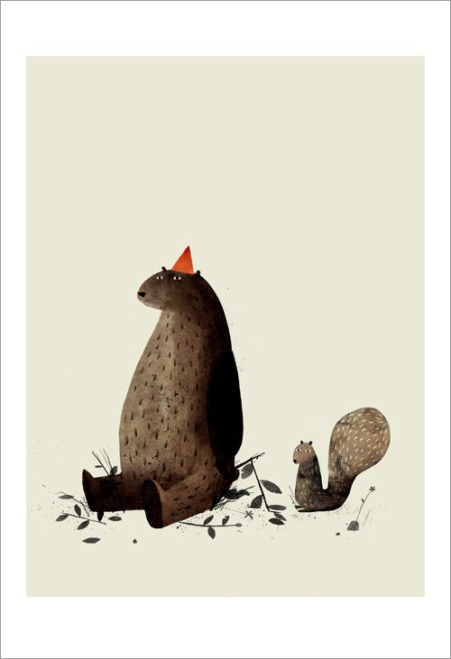 Jon Klassen - Print - I Want My Hat Back - Page 29 (Squirrel) - Nucleus | Art Gallery and Store