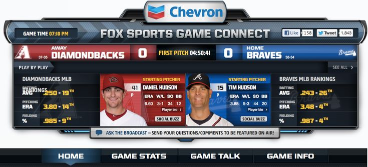 Fox Rounds Second Screen with 'Game Connect' for