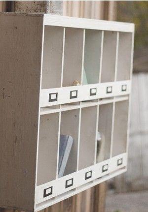 Farmhouse wall organizer. Looks like an old mail sorter! (affiliate)