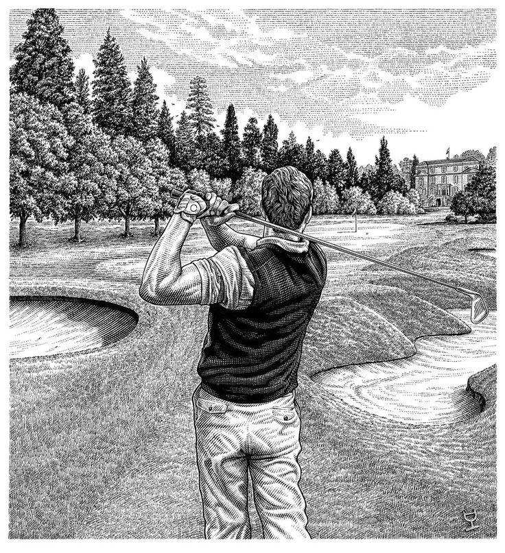 Golfer by Dave Hopkins