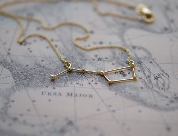 Necklace Ursa Major 14k solid gold от Twinklebird на Etsy
