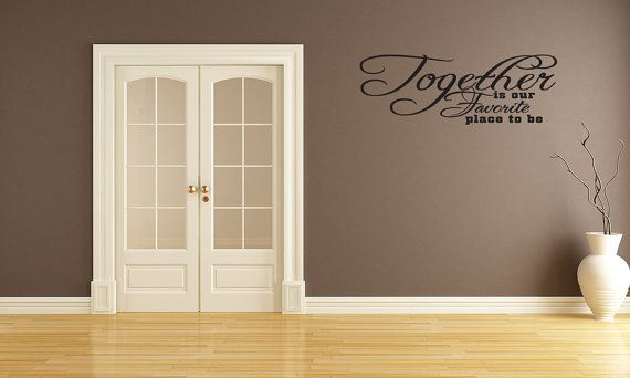 Together Is Our Favorite Place Family Vinyl by vinylwordsdecor