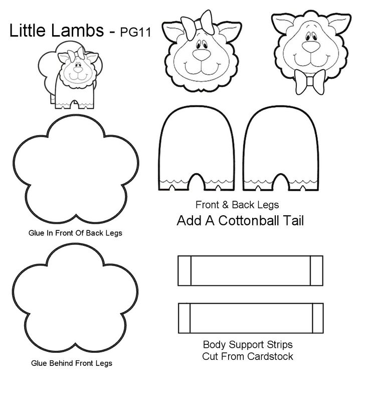 The 25 best lamb template ideas on pinterest sheep for Cardboard sheep template