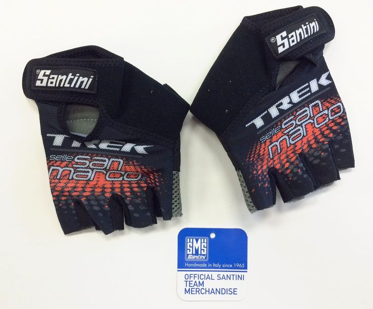 2016 Trek MTB Team Summer CYCLING GLOVES - Made in Italy by Santini