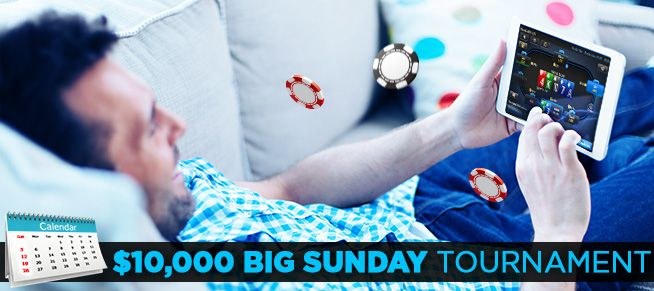 Start the week off right with a $10,000 tourney! Register for the tourney or get there via satellites. Play now!