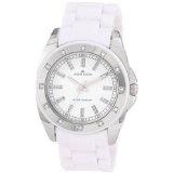 Anne Klein Women's 109179WTWT Silver-Tone Swarovski Crystal Accented White Plastic Watch (Watch)By Anne Klein