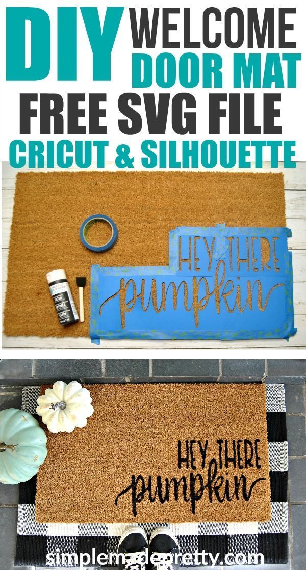 DIY Fall Welcome Mat With Free SVG File (for Cricut & Silhouette)