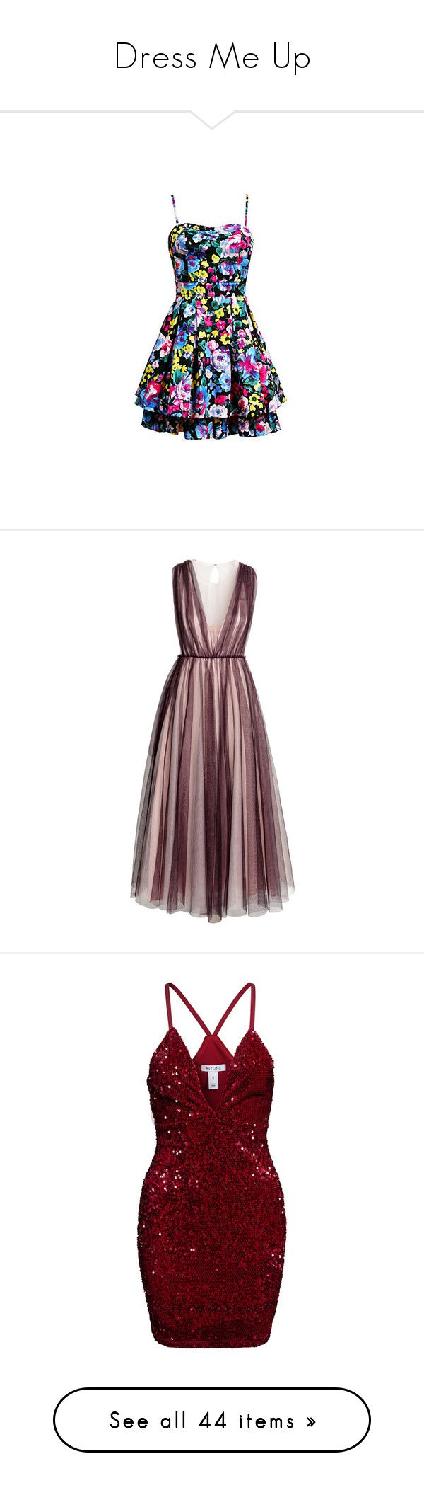 """""""Dress Me Up"""" by lizf99 ❤ liked on Polyvore featuring dresses, vestidos, short dresses, sukienki, mini dress, h&m dresses, gowns, long dresses, brown gown and brown evening dress"""