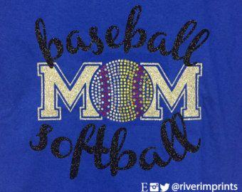 BEISBOL Softbol mamá brillante de béisbol y por RiverImprints