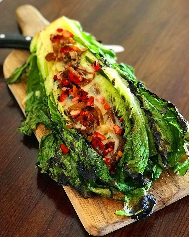 I Have 2 Words For You Grilled Salad This Dish From Citizeneatery Absolutely Blew Me Away Its Flame Grilled Roma Grilled Romaine Grilled Salad Travel Food