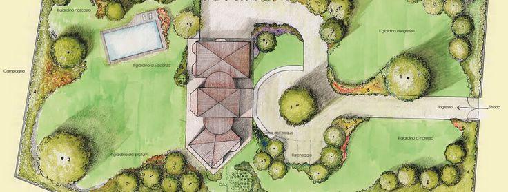 Pi di 25 fantastiche idee su progettazione del giardino - Progetto per giardino ...