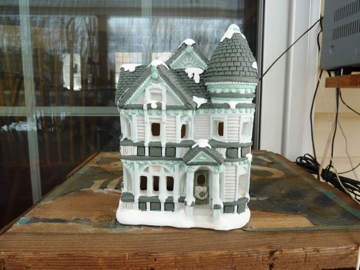 Christmas Village Hand Painted Tiffany House by ...
