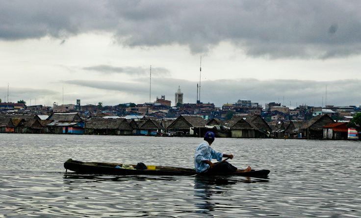 Barrio flotante de Belén, Iquitos (Perú)