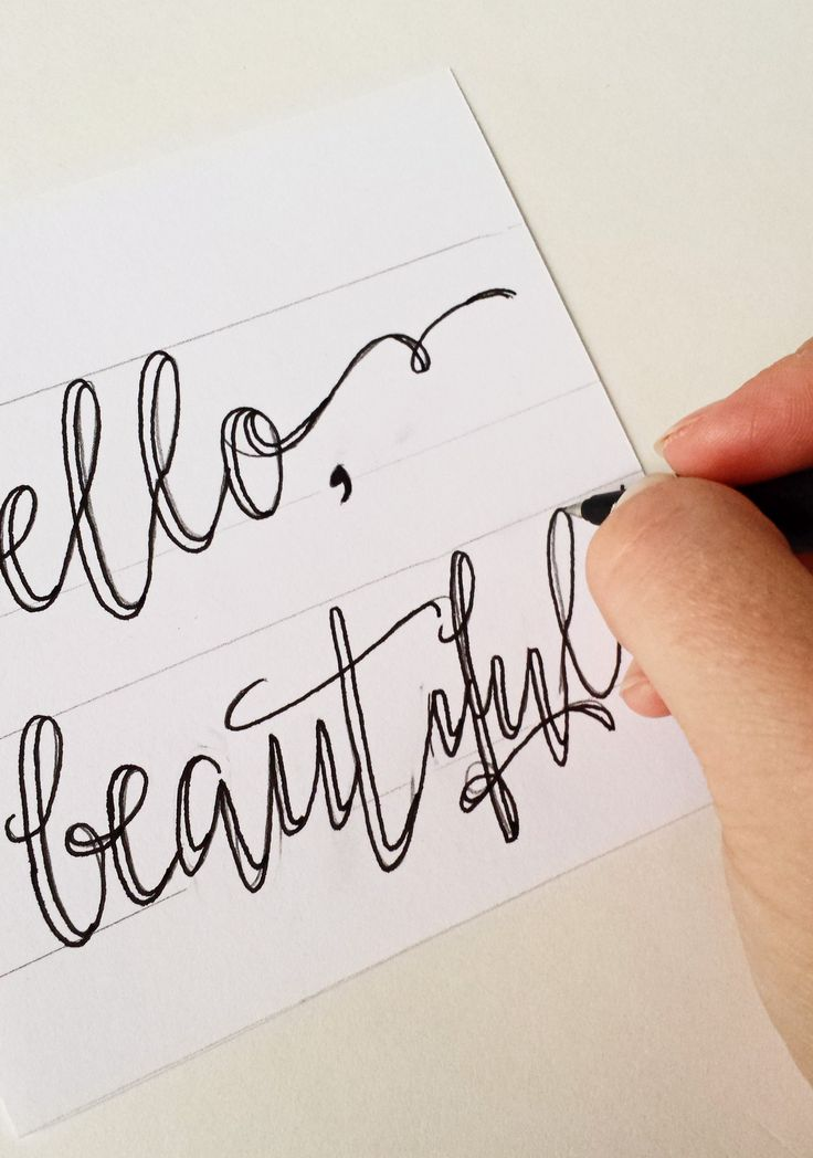how to write calligraphy letters with a pen