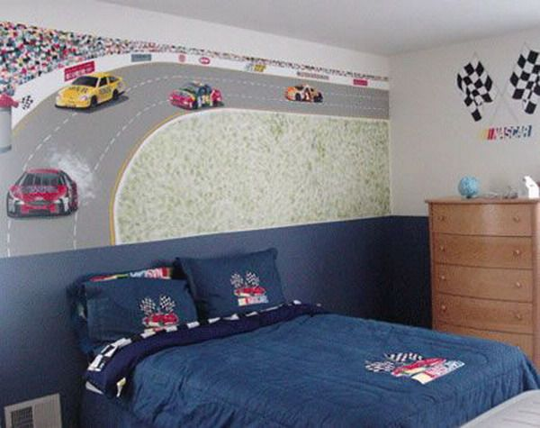 Race Car Room Wall Mural Race Car Room Pinterest NASCAR - Boys car wallpaper designs