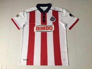 Chivas 2017-18 Season Home White Red Liga MX Shirt Jersey [K519]