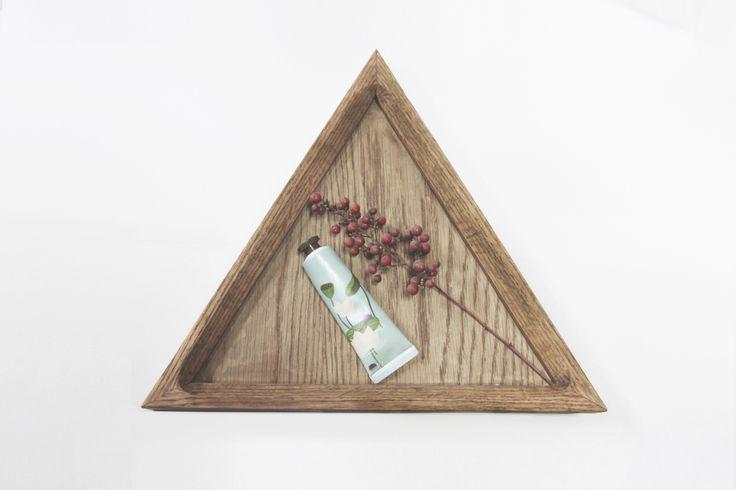 Oak triangle tray 01 design by halomoon