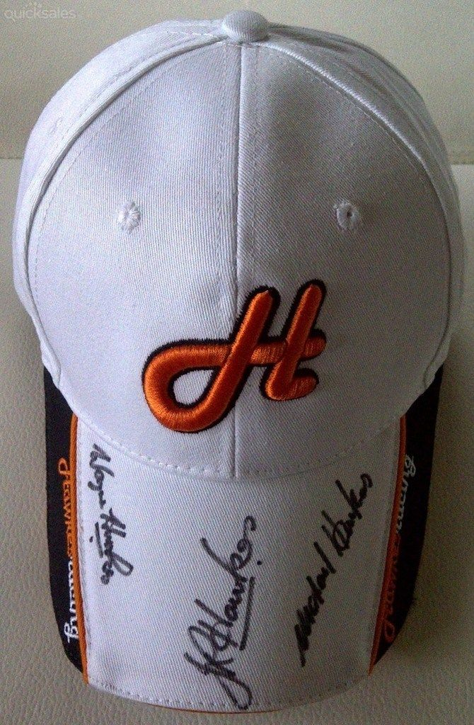 SIGNED HAWKES RACING CAP - WHITE starting @ $20.00 #parismattRBWH #Charity